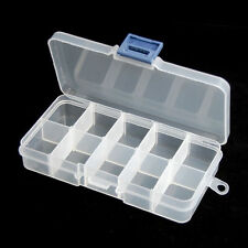 3X10 COMPARTMENT SMALL ORGANISER STORAGE PLASTIC BOX CRAFT BEAD NAIL BEADS NEW