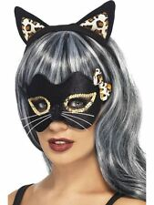 Midnight Kitty Eye Mask and Ear Set,Halloween Fancy Dress Accessories #AU