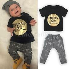 Newborn Toddler Infant Kids Baby Boy Clothing T-shirt Tops+Pants Outfit Sets