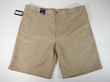 Mens Shorts Roundtree & Yorke Microfiber Classic Wrinkle Resistant Flat Pleated