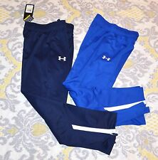 Under Armour BLUE track sweats sweatpants pants boys youth YMD MEDIUM $54.99