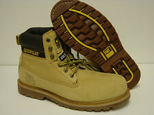 """NEW Mens WIDE CATERPILLAR CAT Holton 6"""" P89733 Steel Toe Honey EH Boots Shoes"""