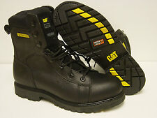 "NEW Mens CATERPILLAR CAT Limit 8"" Steel Toe Kevlar Black Boots Shoes"