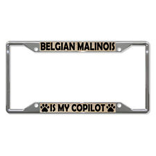 BELGIAN MALINOIS DOGS Metal License Plate Frame Tag Holder Four Holes