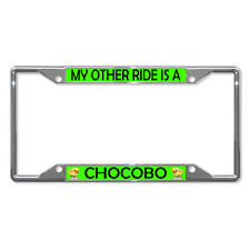 MY OTHER RIDE IS A CHOCOBO Metal License Plate Frame Tag Holder Four Holes