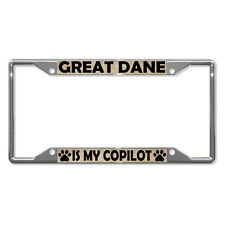 GREAT DANE DOGS Metal License Plate Frame Tag Holder Four Holes