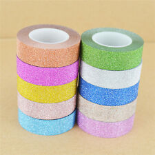 10M Glitter Washi Masking Tape Paper DIY Self Adhesive Sticker Craft Decorative