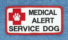 MEDICAL ALERT SERVICE DOG PATCH 2X4 INCH Danny & LuAnns Embroidery assistance