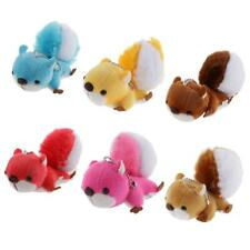 Lovely Stuffed Animal Keychain Large Tail Squirrel Bag Charm Plush Toy