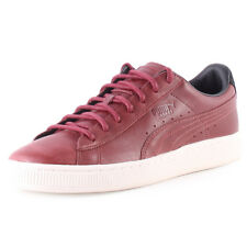 Puma Basket Citi Series Mens Trainers Oxblood New Shoes