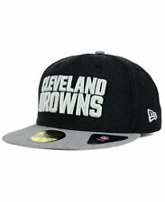 CLEVELAND BROWNS NFL HEATHER ACTION 2-TONE NEW ERA 59FIFTY FITTED HAT/CAP NWT
