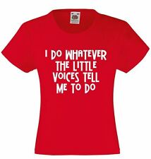 Unisex Kids Funny Sayings Slogans t shirts -Do Whatever Voices-funny tshirts