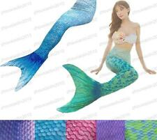 Kids Girls Women Swimable Mermaid Tail Fin Flipper Swimwear Swimming Costumes