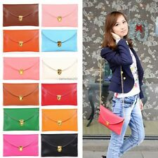 Womens Lady Envelope Clutch Chain Shoulder Handbag Wristlet Bag purse