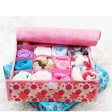Lingeries Gloves Underwear Storage Bra Socks Bag Box 16 Grids Foldable Organizer