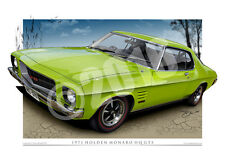 1971 Holden HQ Monaro Art Prints - Holden Automotive Art from Unique Autoart