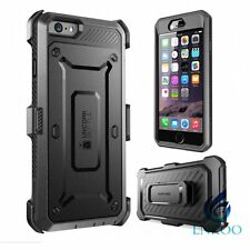 SUPCASE Full Body Rugged Holster Case & Screen Protector Black For iPhone 6S/6SP