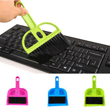 Mini Plastic Hand Kitchen Dustpan Brush Broom Set Soft Keyboard Cleaning Sweeper