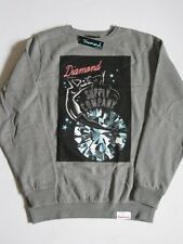 Red Light Neon Gray Crew Sweater DIAMOND SUPPLY Co Company Crewneck Mens Grey