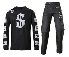 2017 Shift Racing Mens Recon Checkers Jersey Ride Pant COMBO MX Offroad Black