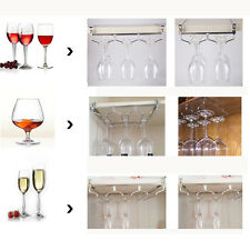 Wine Glass Hanger Rack Holder Shelf Under Cabinet Stemware Organizer Storage