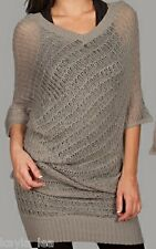 Gray 3/4 Sleeve Cardigan/Sweater Tunic/Cover-Up S/M/L