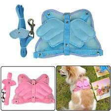 New Wings Pet Dog Adjustable #M Safety Harness Mesh & Leash 2 Colors