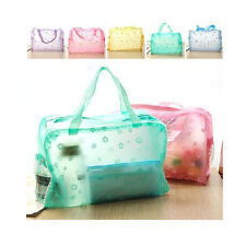 Floral Transparent Waterproof Cosmetic Wash Bag Toiletry Bathing Pouch New