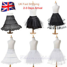 UK Flowergirl Bridesmaid Children Tulle Net Petticoat Kid Underskirt Child Skirt