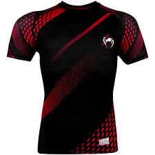 Venum Rapid Compression Short Sleeve Rashguard - Black/Red