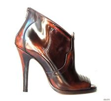 new $1060 Maison Martin Margiela 22 brown open-toe back zipper ANKLE BOOTS - hot