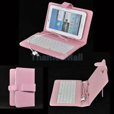 Protective Leather Case + Mini USB Keyboard Stylus Pen for 7 inch 8 inch Tablet