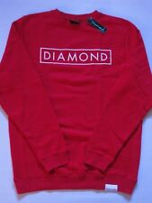Basic Logo Red White Crew Sweater DIAMOND SUPPLY Co Company Crewneck Mens New