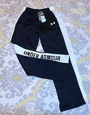 Under Armour black white track  sweats sweatpants pants boys youth XS / S SMALL