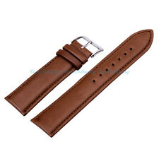 NEW Quality Unisex Genuine Leather Brown Watch Strap Band Womens Mens