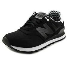 New Balance WL574 Women   Suede Black Athletic Sneakers