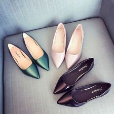Women Pointy Toe Loafers Fashion Ballet Flats Ballerinas Dress Shoes Solid Color