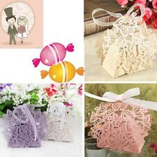 20x Butterfly Laser Cut Party Wedding Favor Candy Gift Boxes With Ribbon New