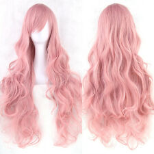 New Sale Fashion  Lady Anime Long Curly Wavy Hair Party Cosplay Full Wig