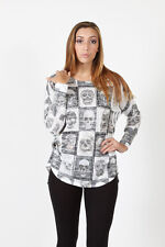 Vocal skull print ls top stone detail