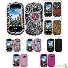 Phone Protect Case Cover For LG VN271(Extravert) Bling Rhinestones Diamond