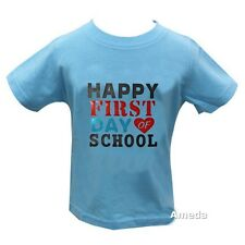 Boys Back To School Happy First Day Of School Blue Tee Shirt