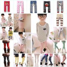 Toddler Kids Girls Baby Bottoms PP Pants Bird Pattern Stretch Warm Long Trousers