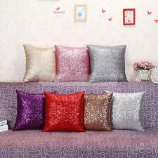 New Decorative Home Sequins Sofa Bedroom Square Pillow Cushion Cover Case Throw