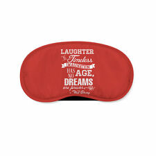 Red Laughter is Timeless Walt Disney Quote Sleeping Mask Travel Eye Mask