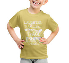 Yellow Laughter is Timeless Walt Disney Quote Kids Sport Mesh T-Shirt Unisex Sub