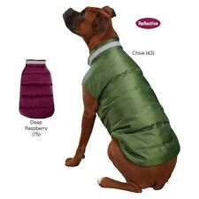 Casual Canine North Paw Puffy Vest Dog Puppy Reflective Coat ~ Chive