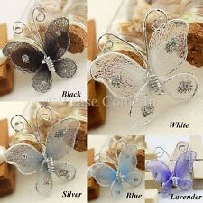 "100 Nylon Stocking 2.5cm (1"") Butterfly Wedding Decorations"