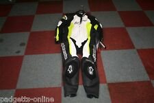 ALPINESTARS WHITE BLACK YELLOW MENS ONE PIECE MOTORCYCLE SUIT VARIOUS SIZES