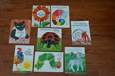 Picture Books By Eric Carle Set of 8 Caterpillar Tiny Seed Hermit Crab